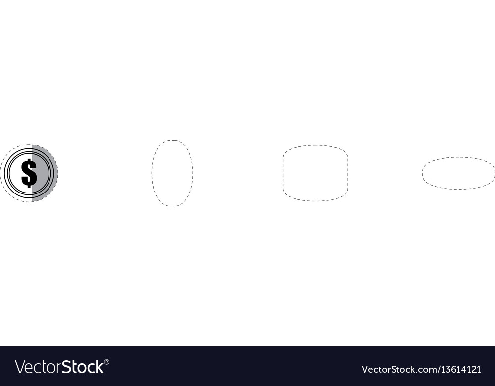 Coin money currency dollar vector image