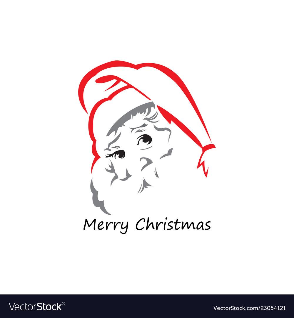 Head santa claus logo