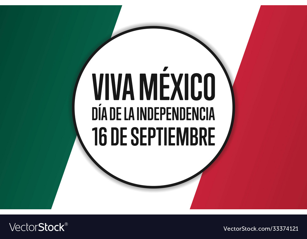 Inscription mexico independence day and long live