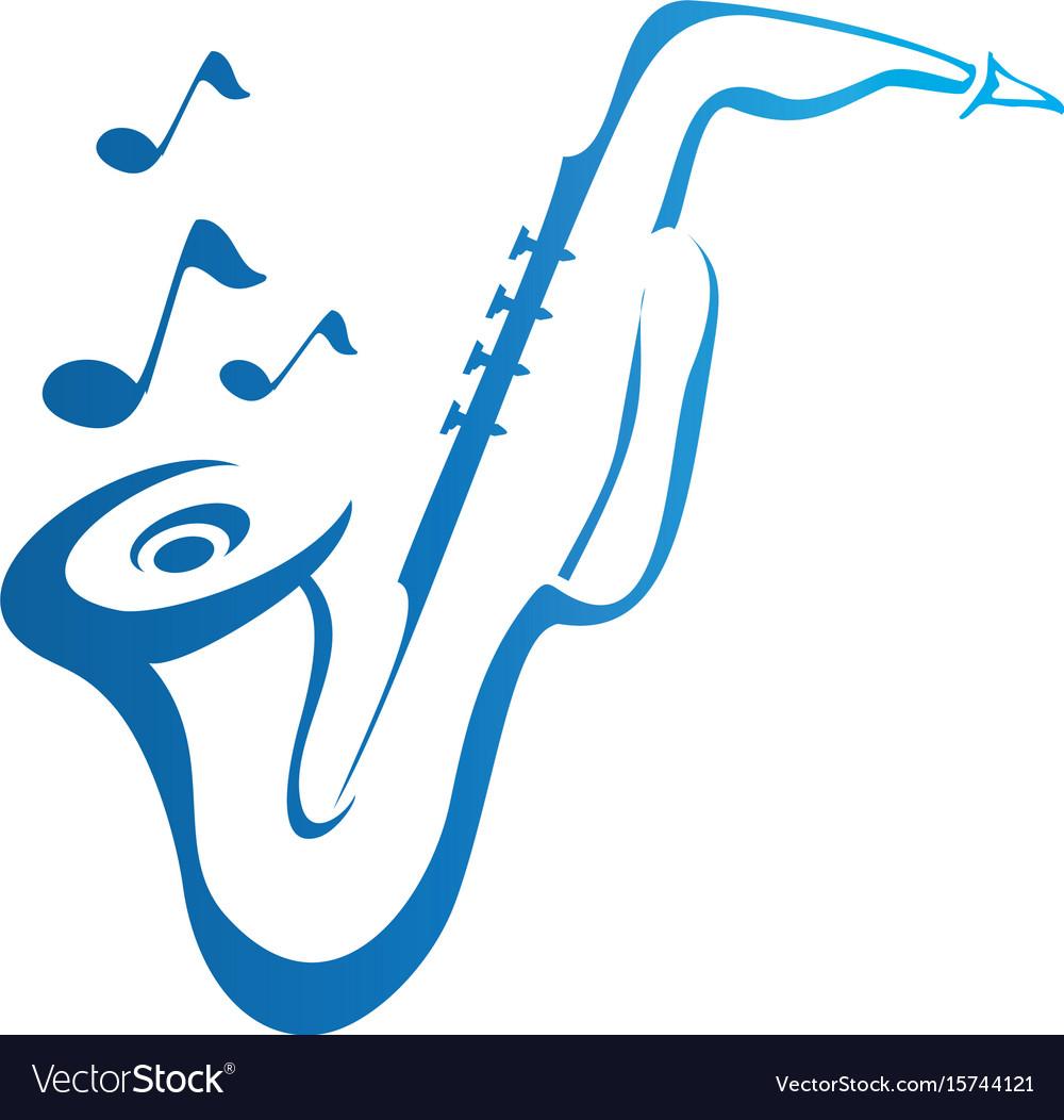 Saxophone logo design