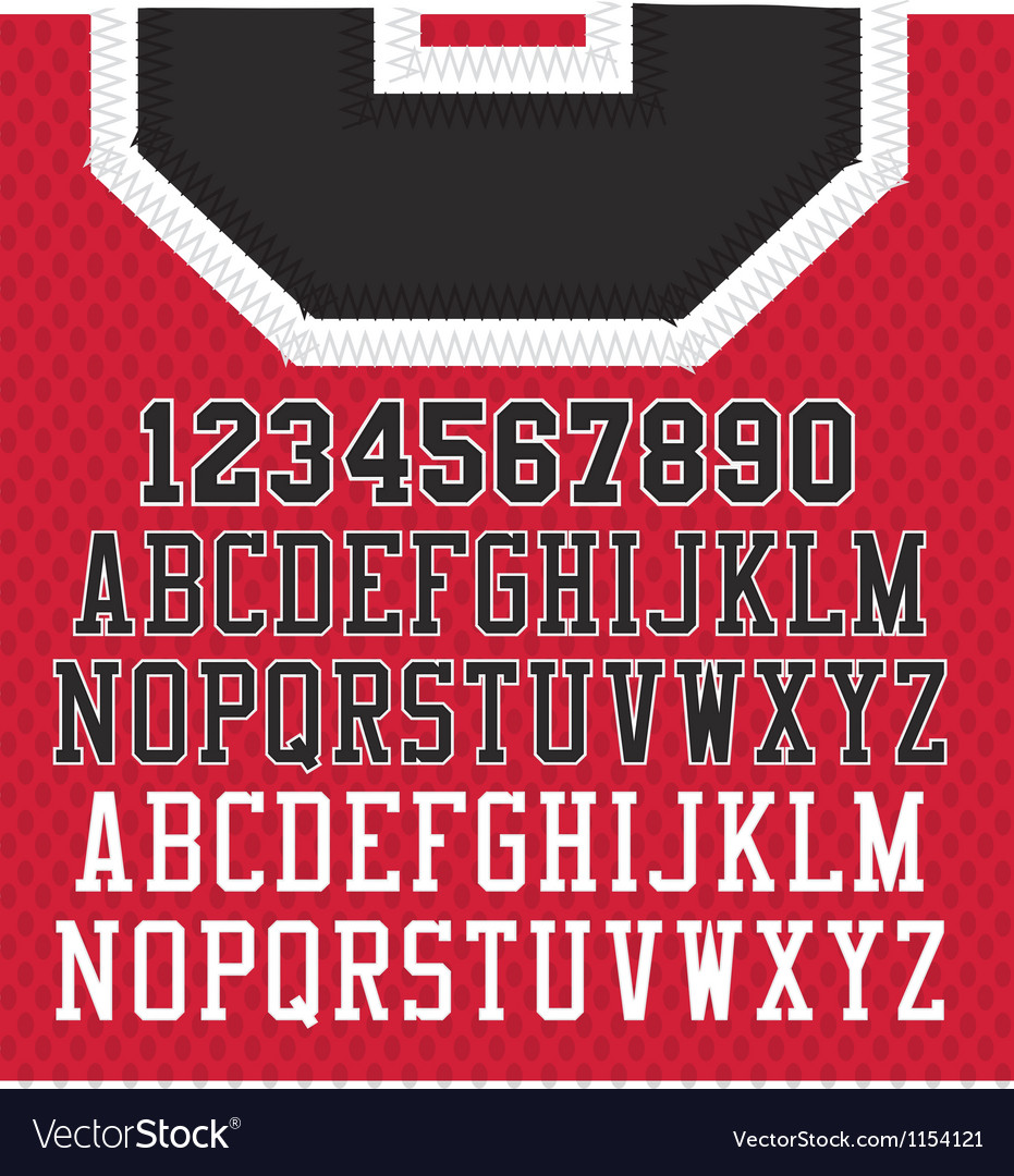 Stitched Sports Numbers and Letters
