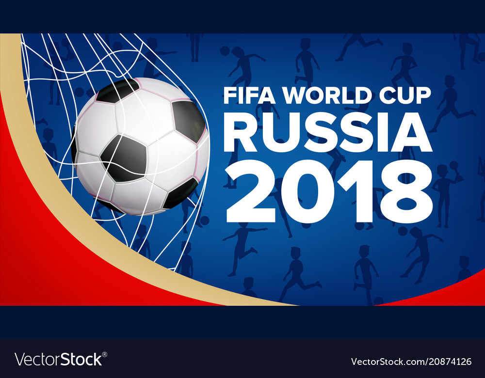 5d290935316 2018 fifa world cup banner championship Royalty Free Vector