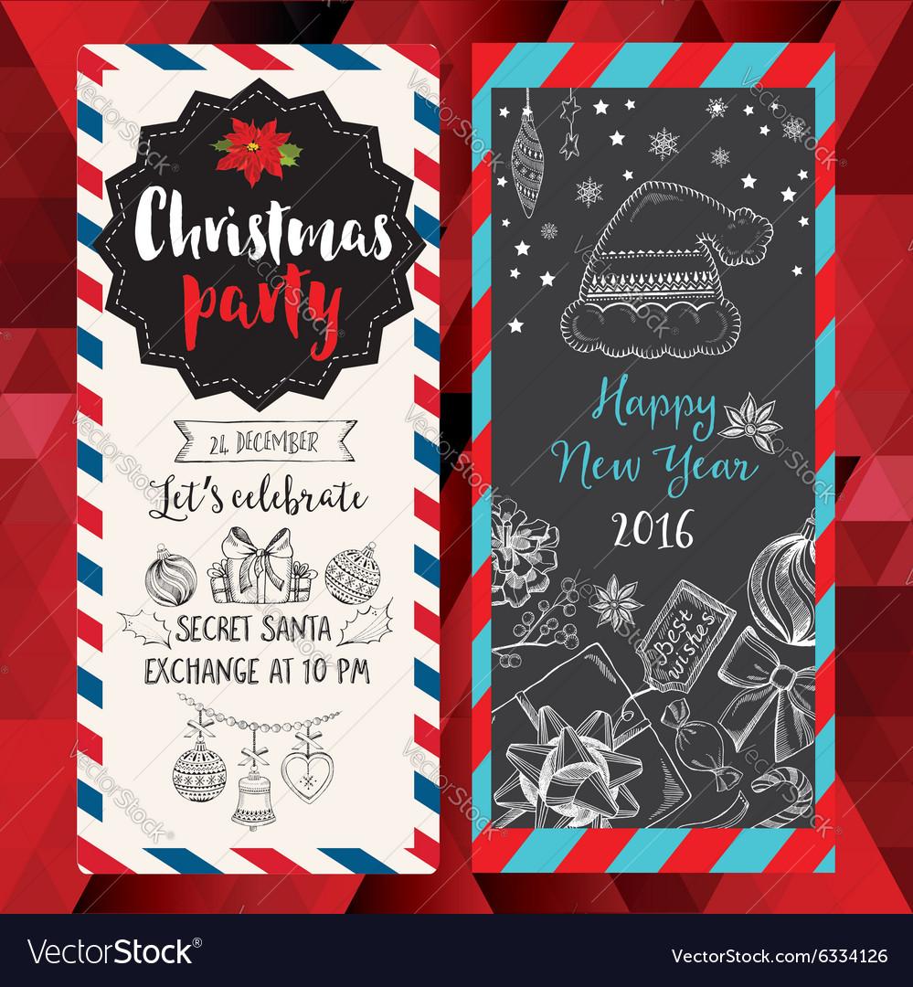 Christmas party invitation Holiday card Royalty Free Vector