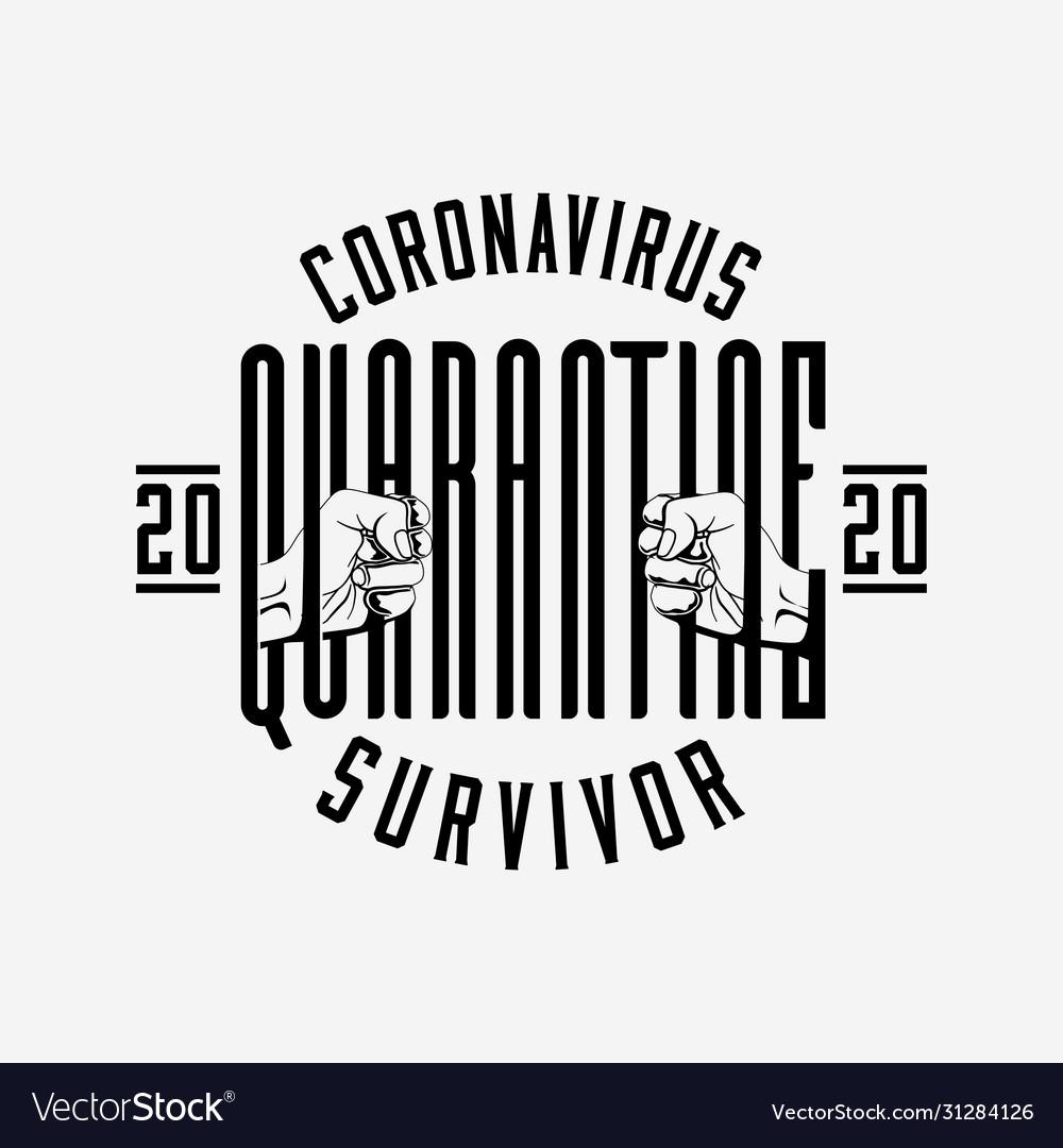Coronavirus 2020 quarantine survivor badge or