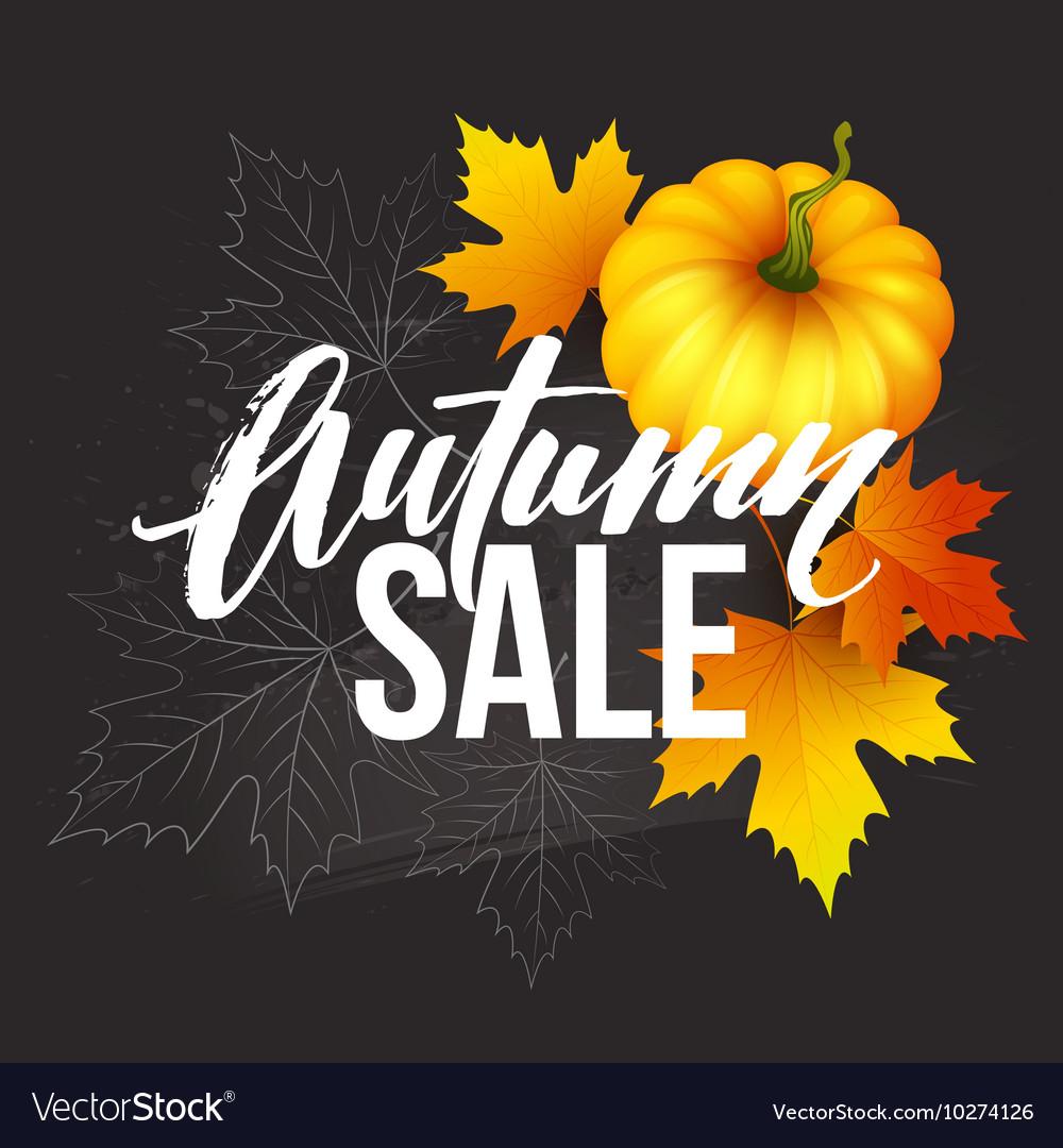 Design banner autumn sale fall poster design