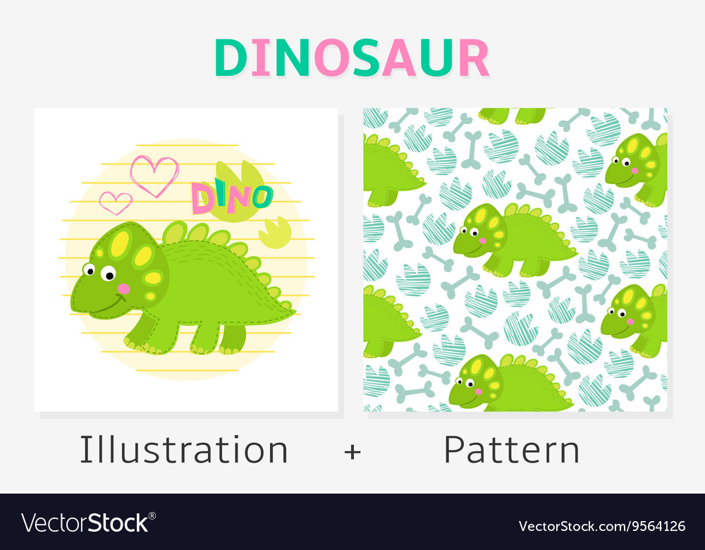 Dinosaur seamless pattern and