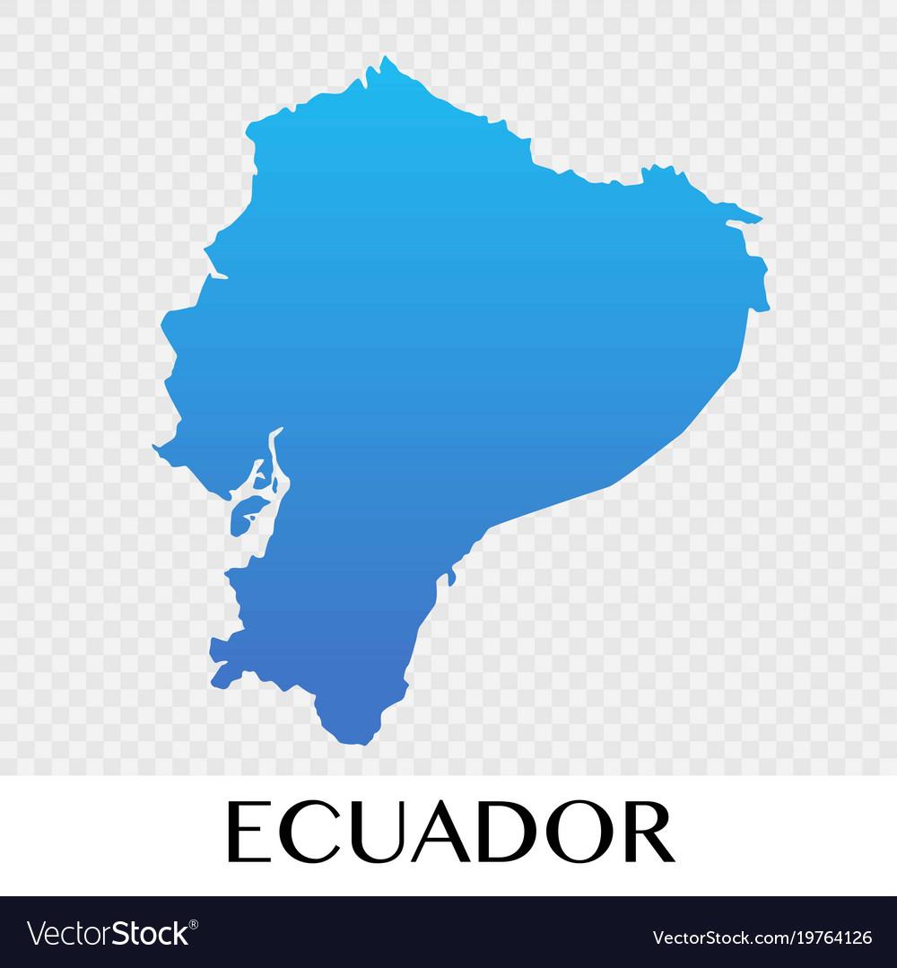 Ecuador Map In South America Continent Design
