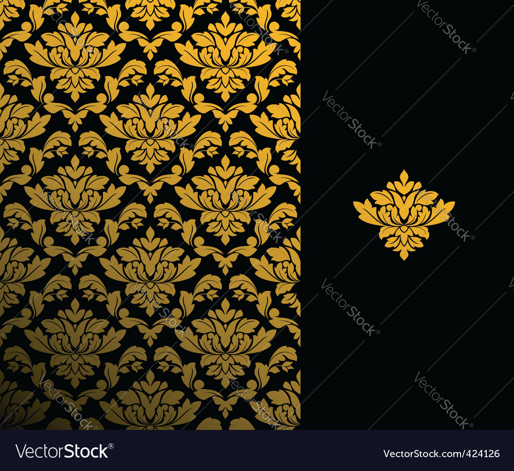 Floral wallpaper pattern