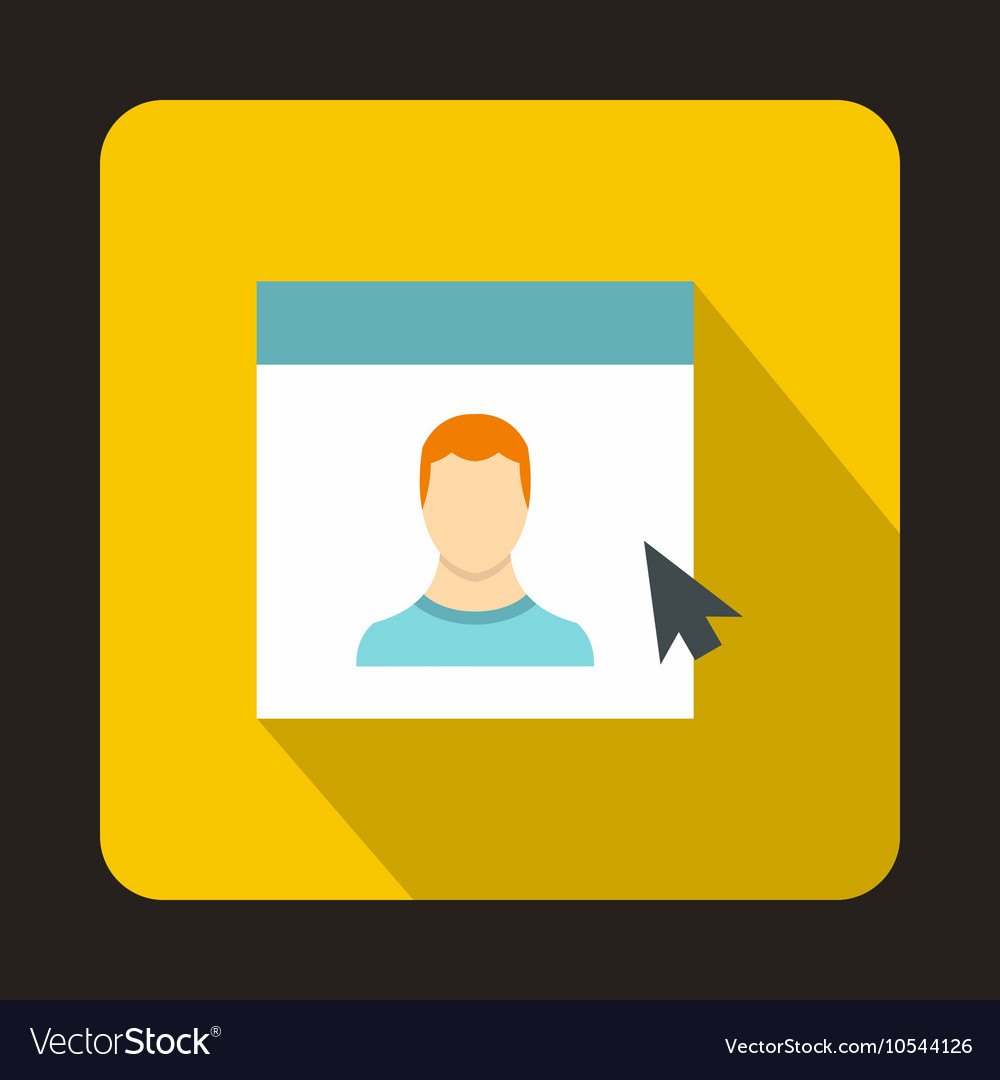 Mouse cursor pointing to a person on monitor icon vector image on  VectorStock