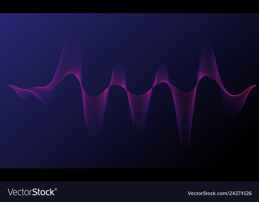 Music neon background illuminated digital wave