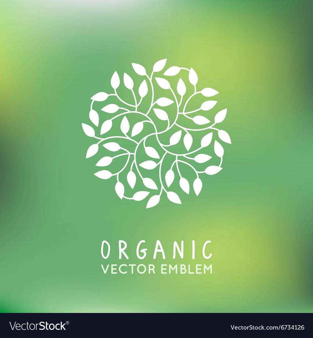 Organic and natural emblem