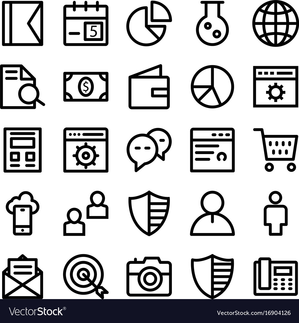 Seo and marketing line icons 1