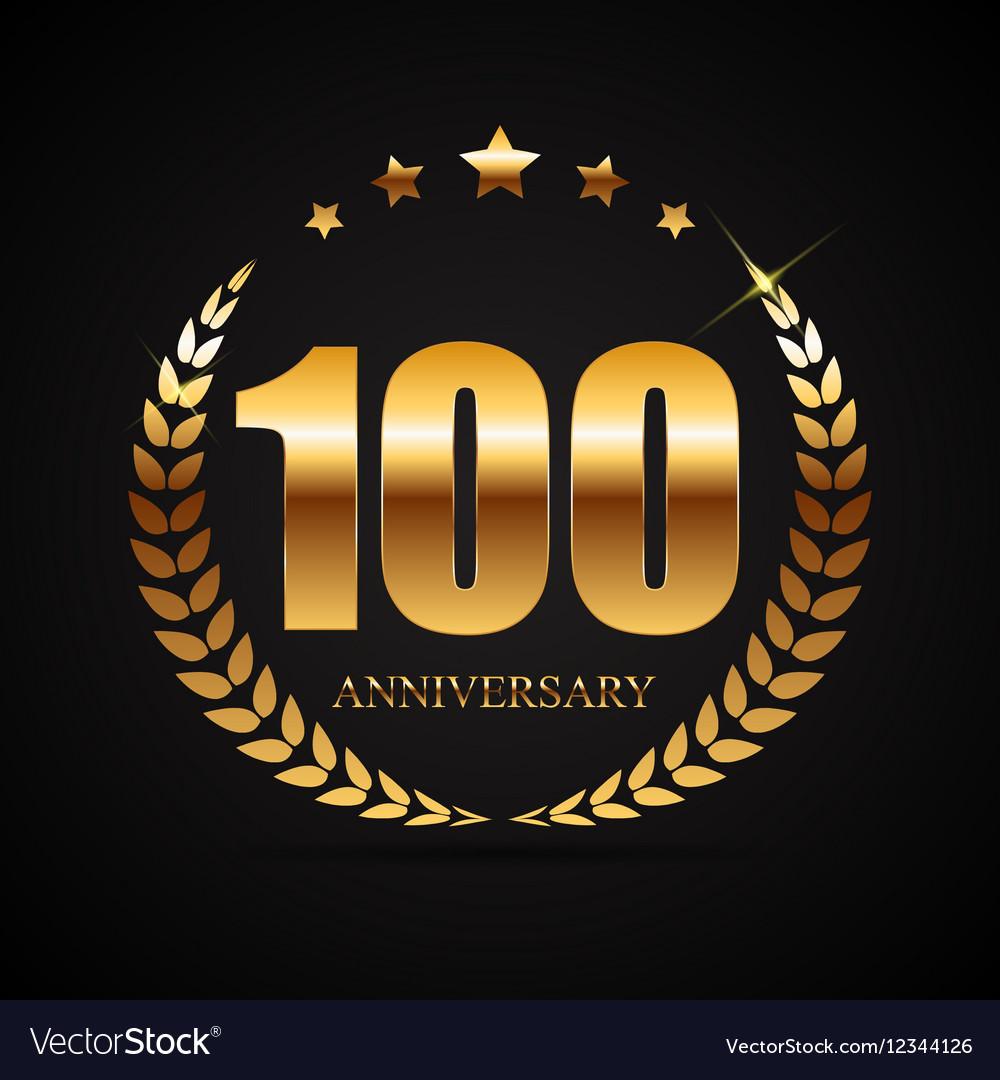 Template Logo 100 Years Anniversary