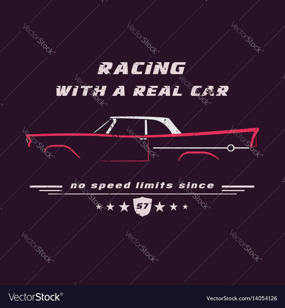 7f0e23250 Vintage classic american car Royalty Free Vector Image