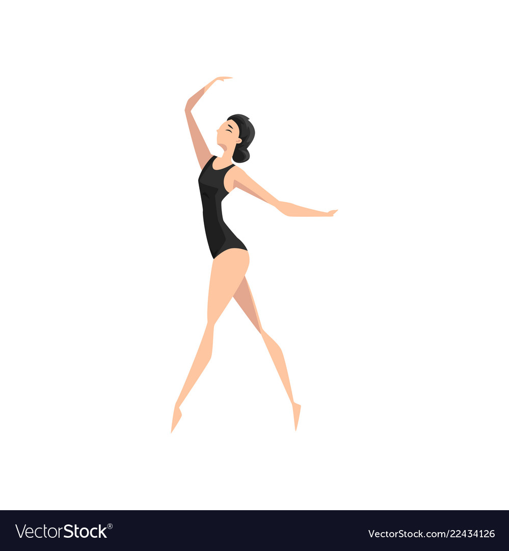 Young ballerina dancing professional ballet
