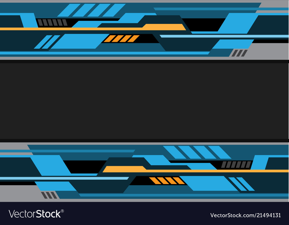 Abstract blue black yellow futuristic technology