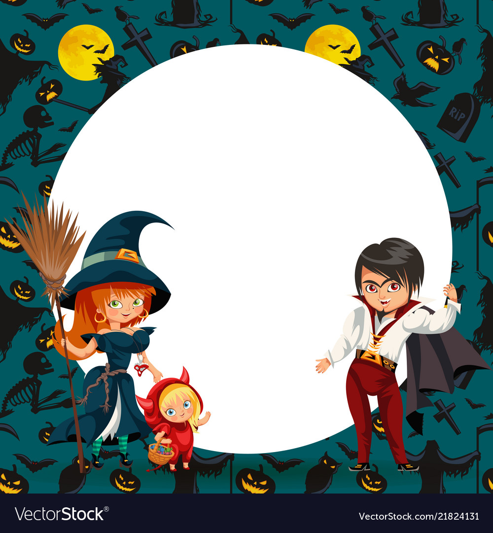 All hallows eve family party flat poster