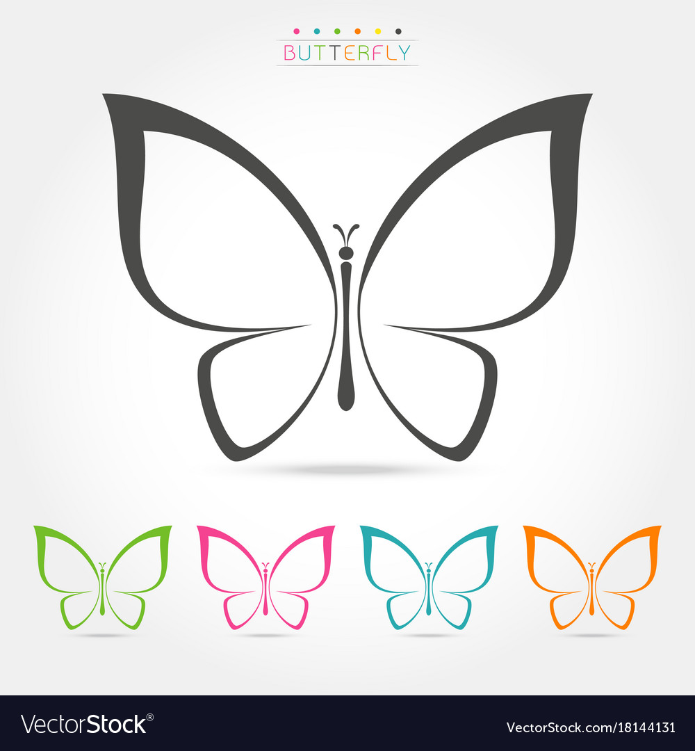 butterfly logo template royalty free vector image