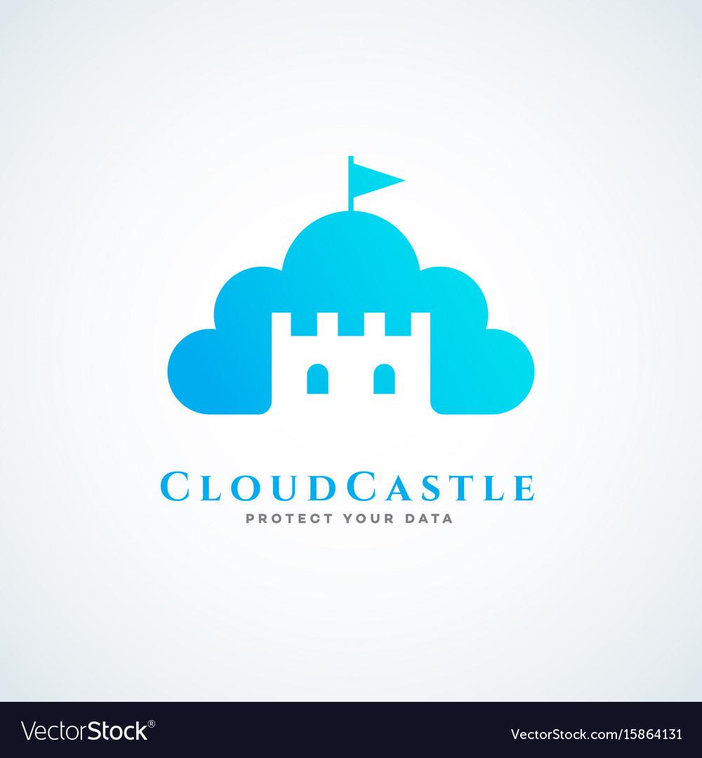 Cloud castle vector image