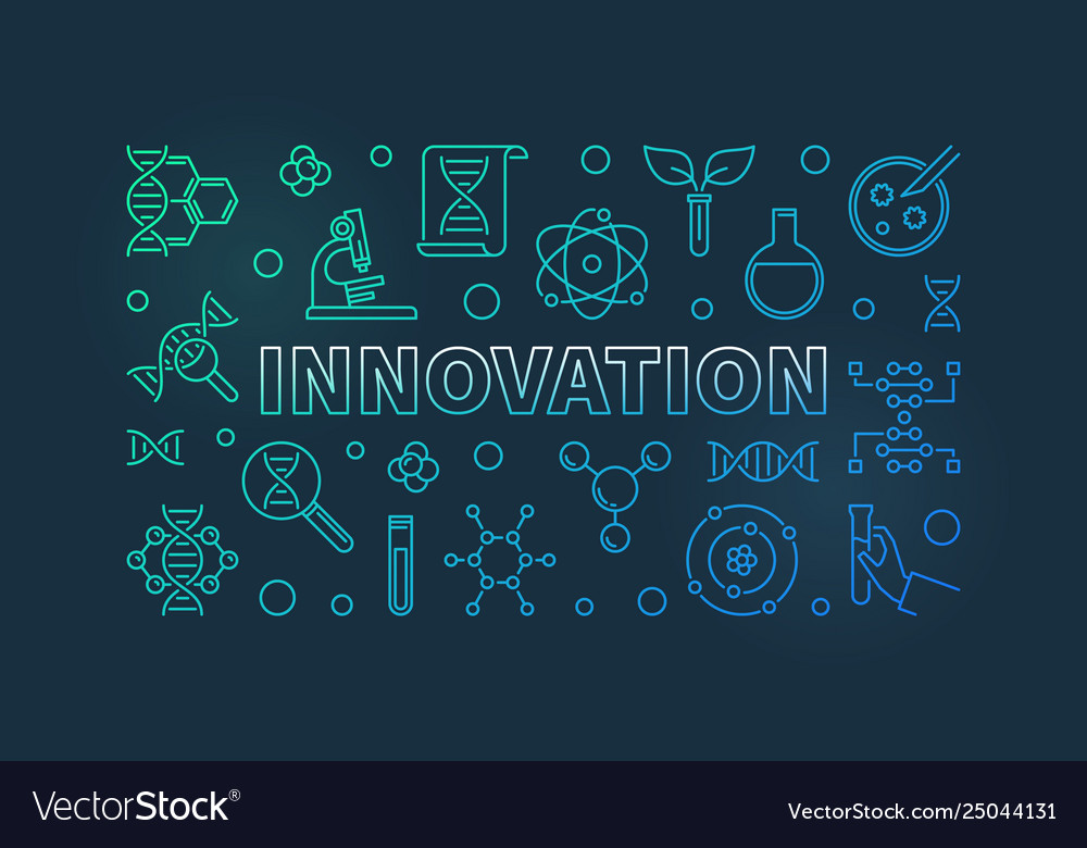 Innovation and science colored outline