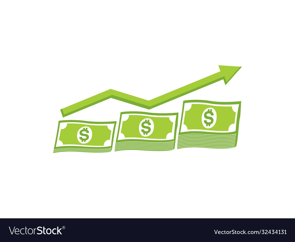 Money growth chart and investment currency