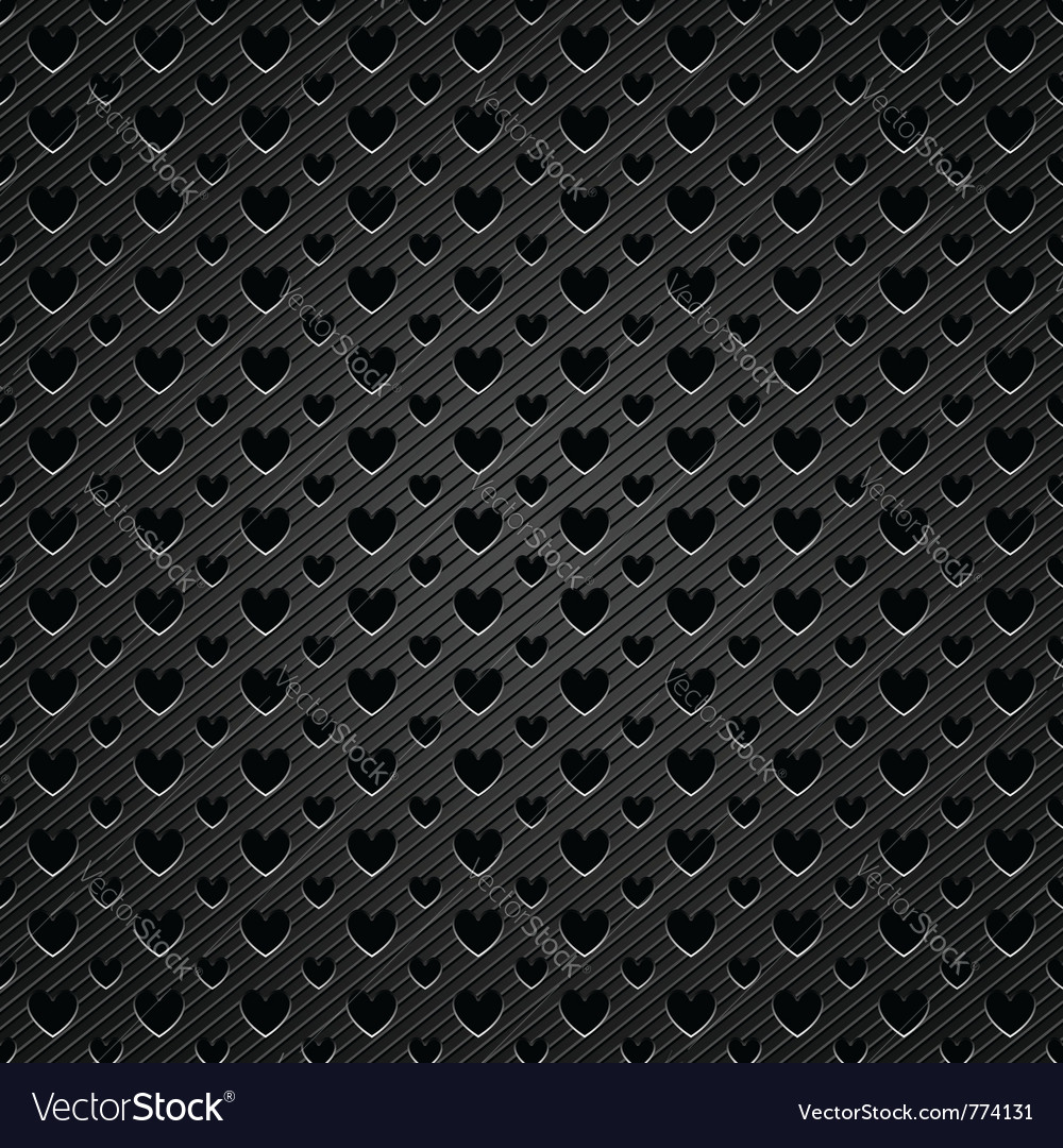 Perforated hearts metal
