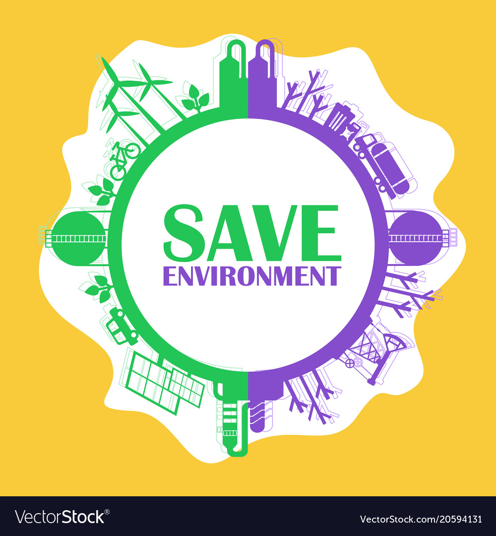 save environment concept royalty free vector image