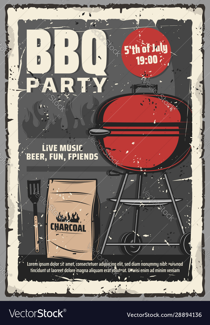 5 july barbecue and burger grill cookout party