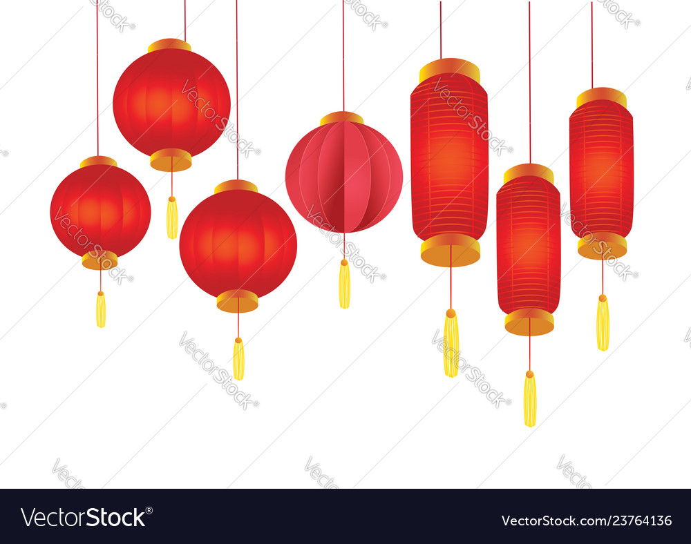 Chinese lanterns for the chinese new year festival