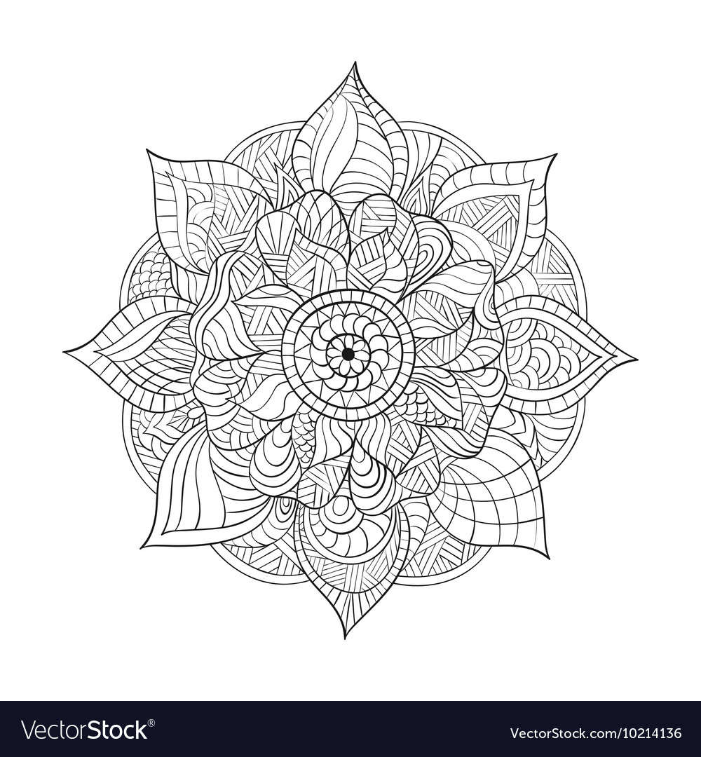 Decorative Mandala for adults coloring books