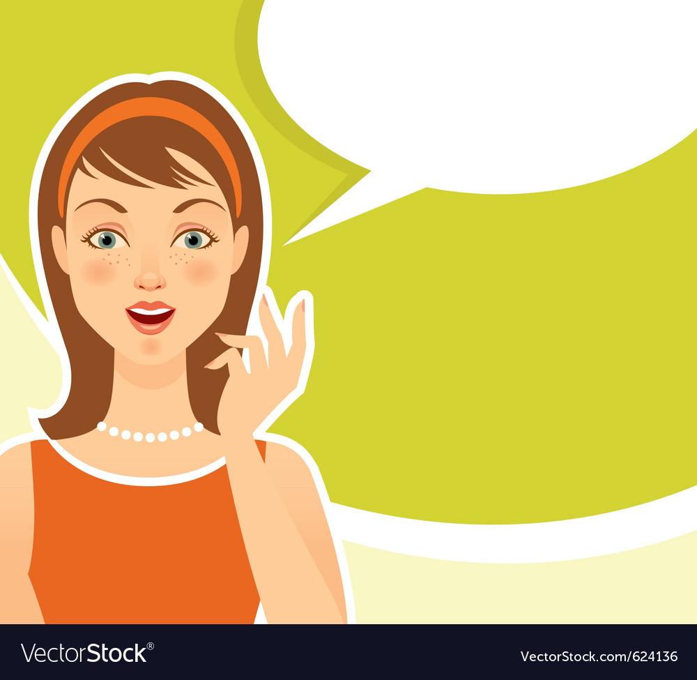 girl thinking royalty free vector image vectorstock