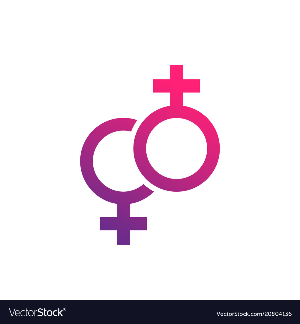 Lesbian couple icon