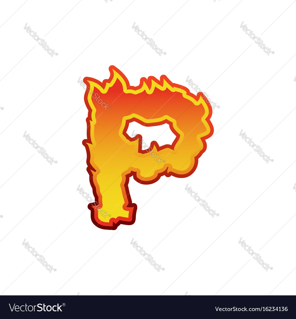 Letter p fire flames font lettering tattoo