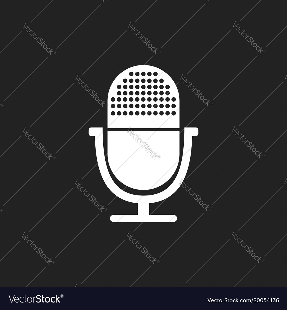 Microphone icon flat microphone sign symbol on