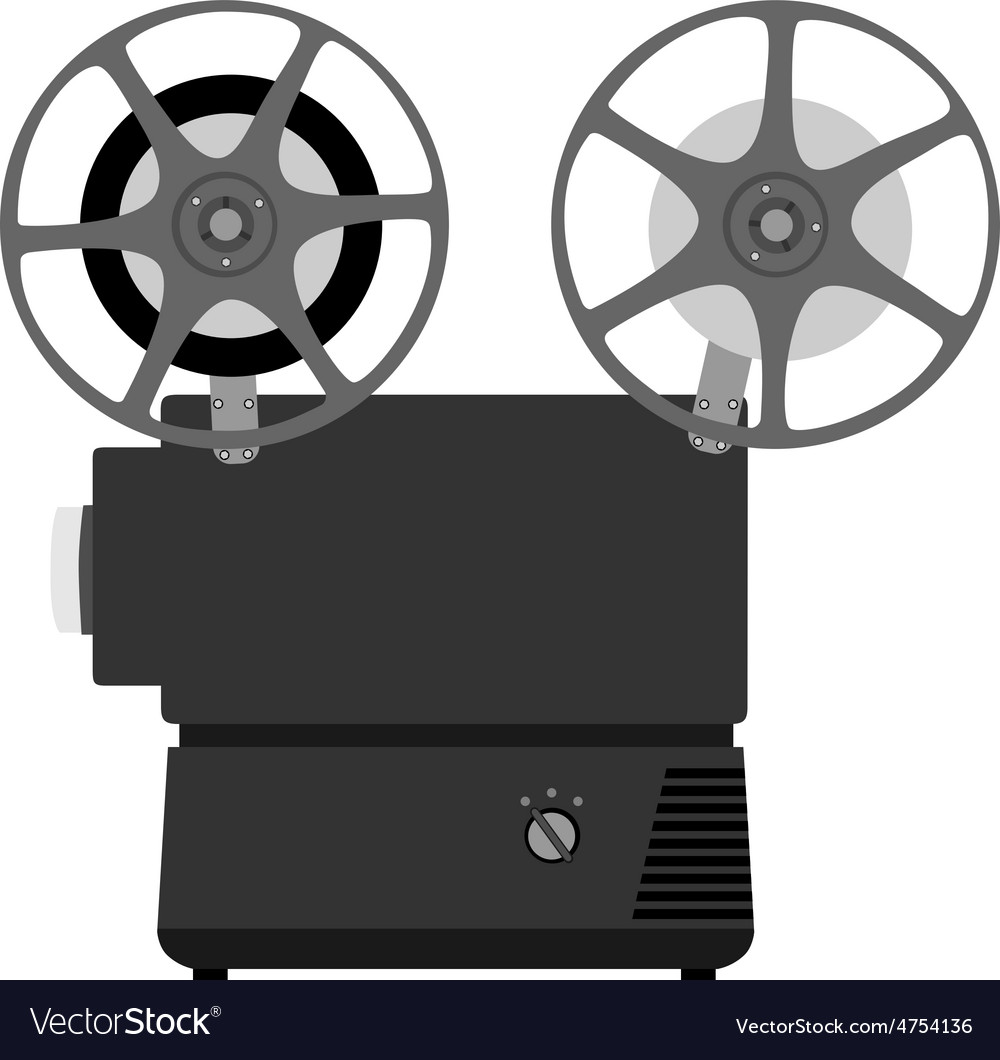 Movie projector vector image
