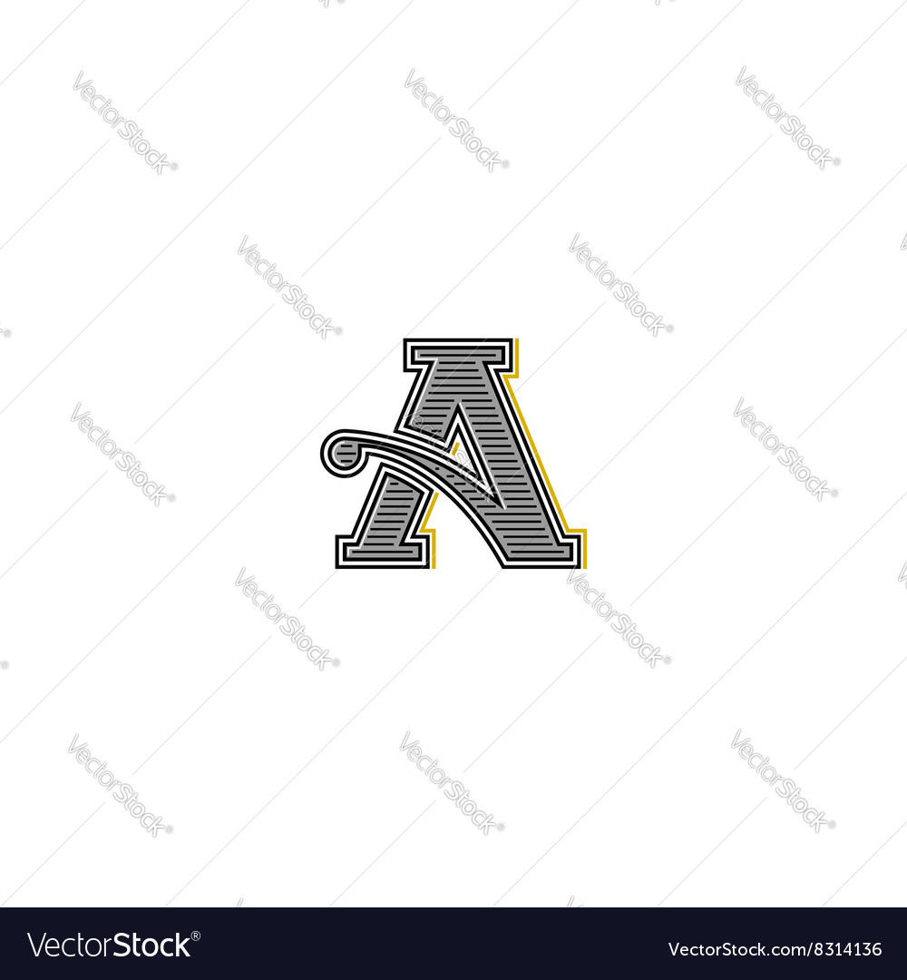 retro letter logo typography monogram wedding vector image