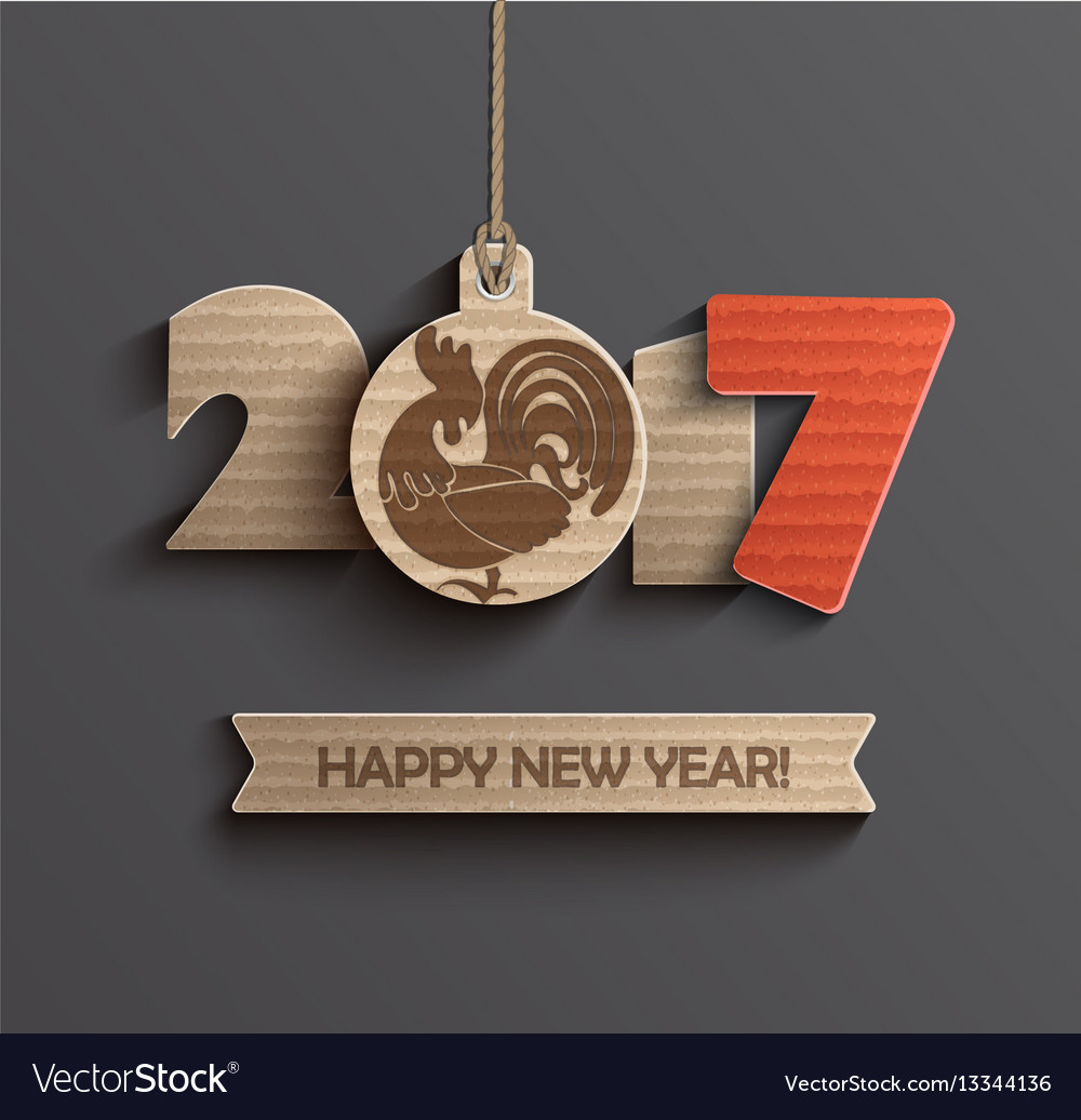 Symbol for happy new year 2017 vector image
