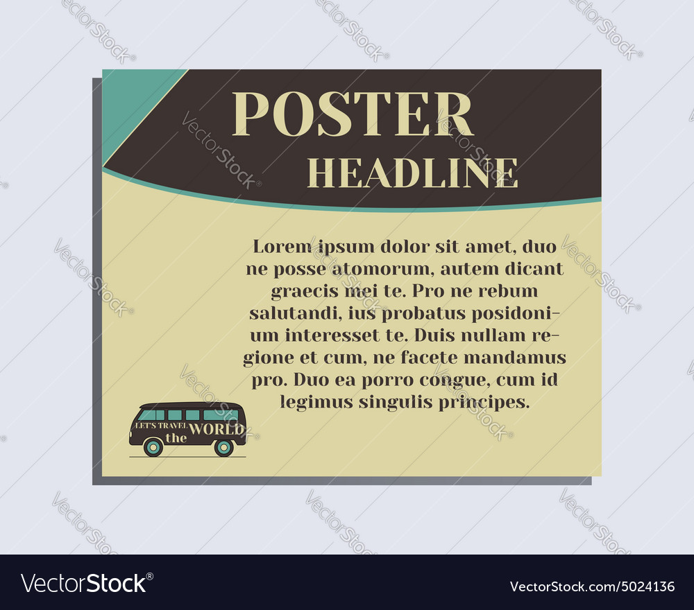 Travel And Camping Poster Design Layout Template Vector Image