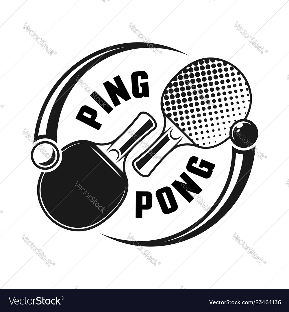 Two rackets for ping pong logo concept