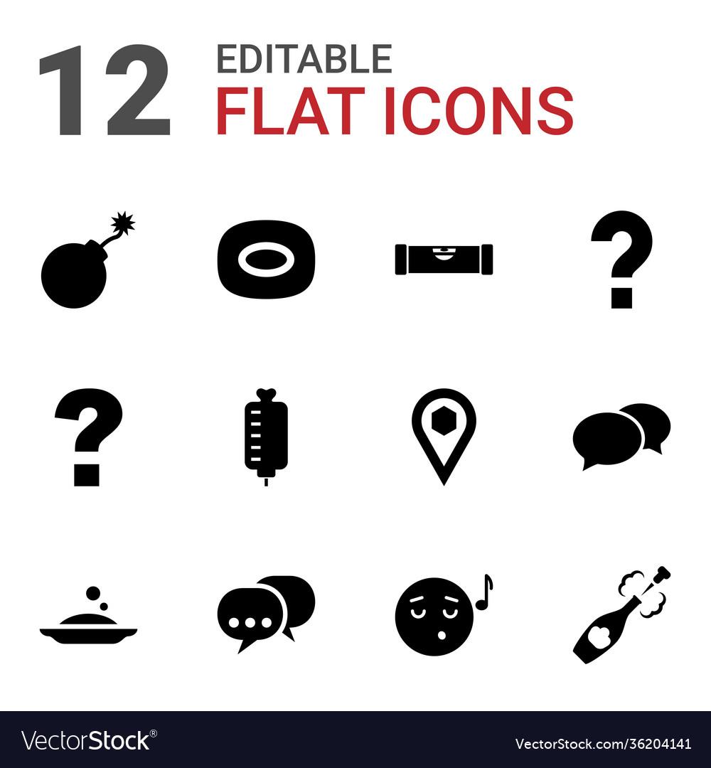 12 bubble icons