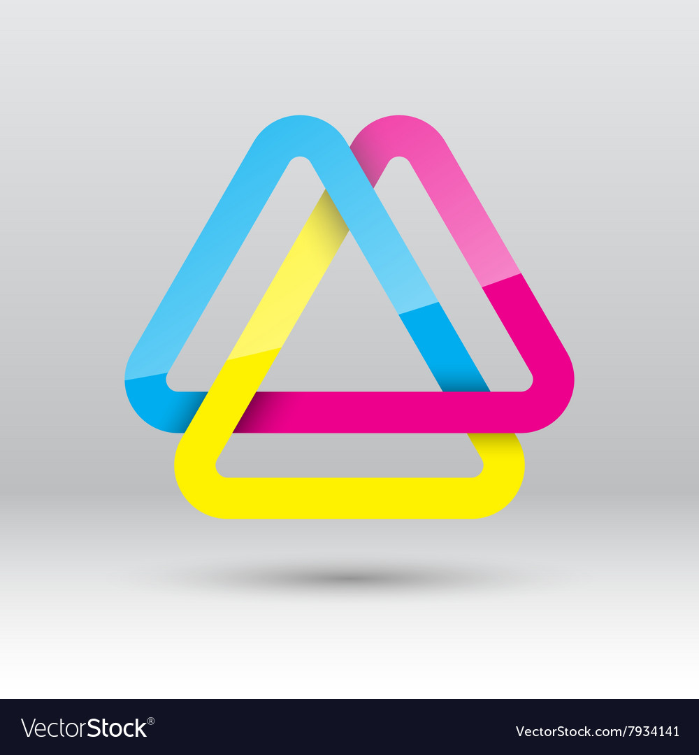 Abstract triangle loop icon