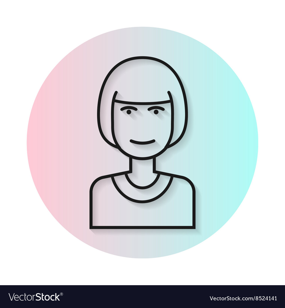 Flat icon hairstyle Kare vector image