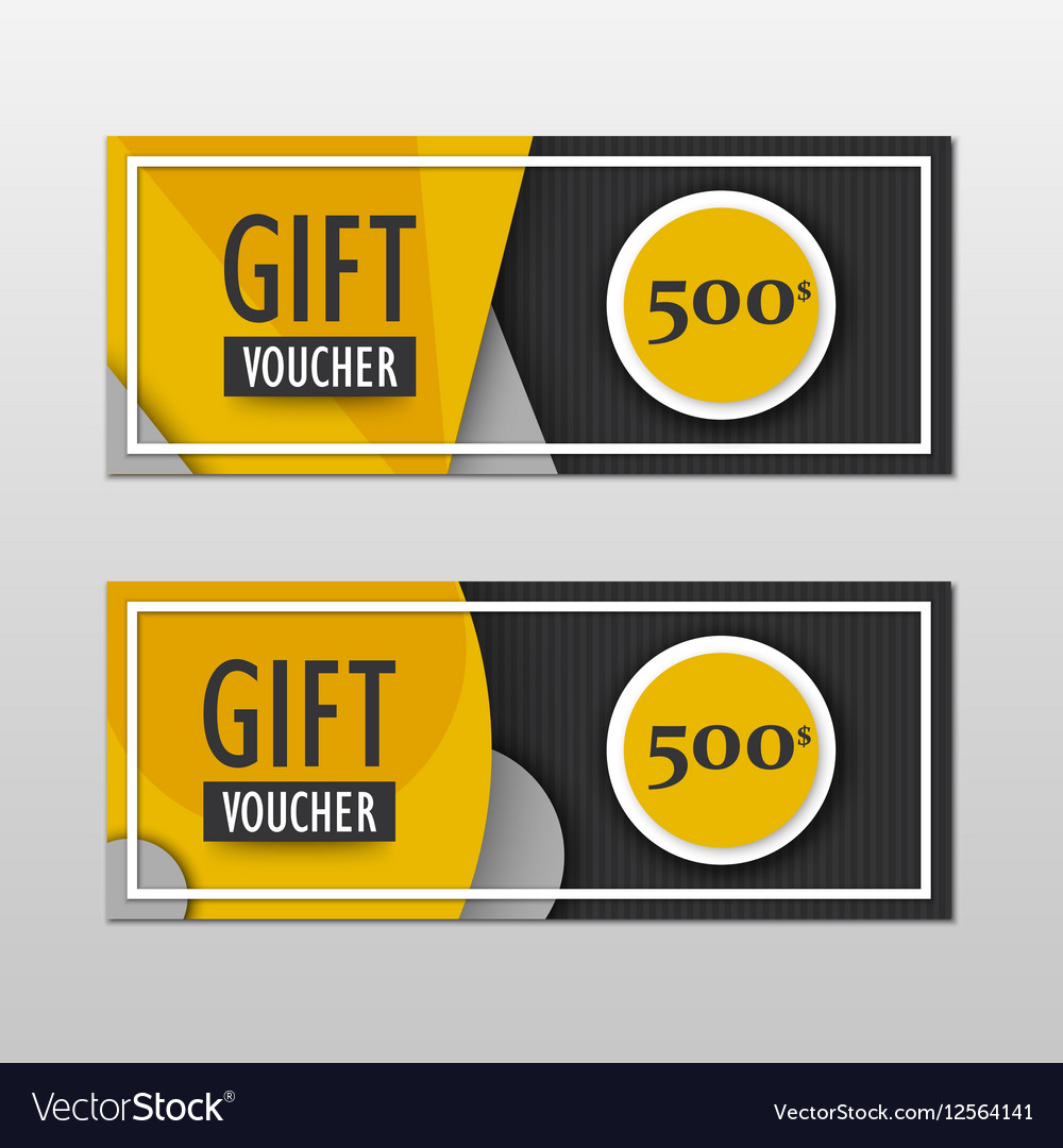 Modern gift voucher template set in vector image