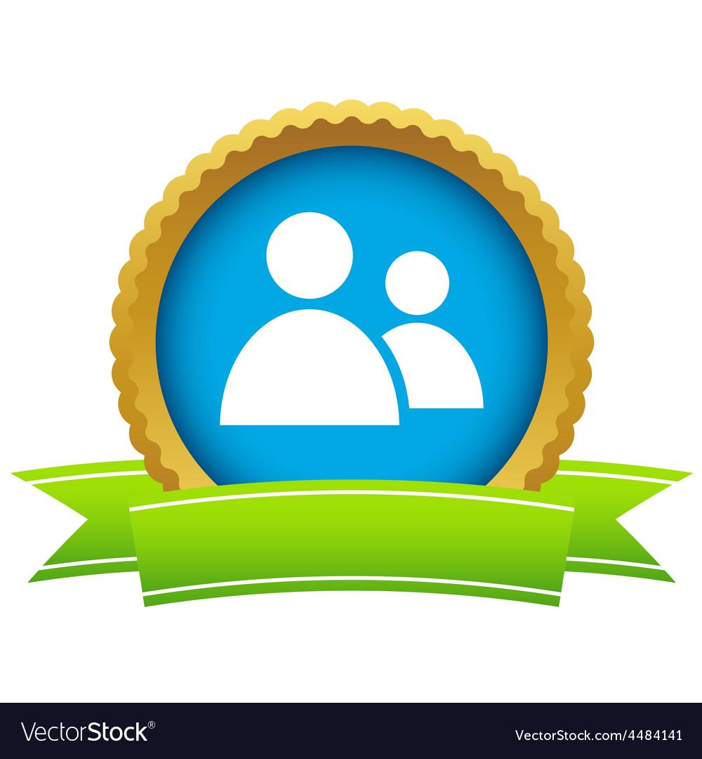 New gold leader logo vector image