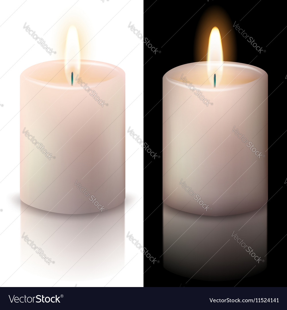 Realistic candle vector image