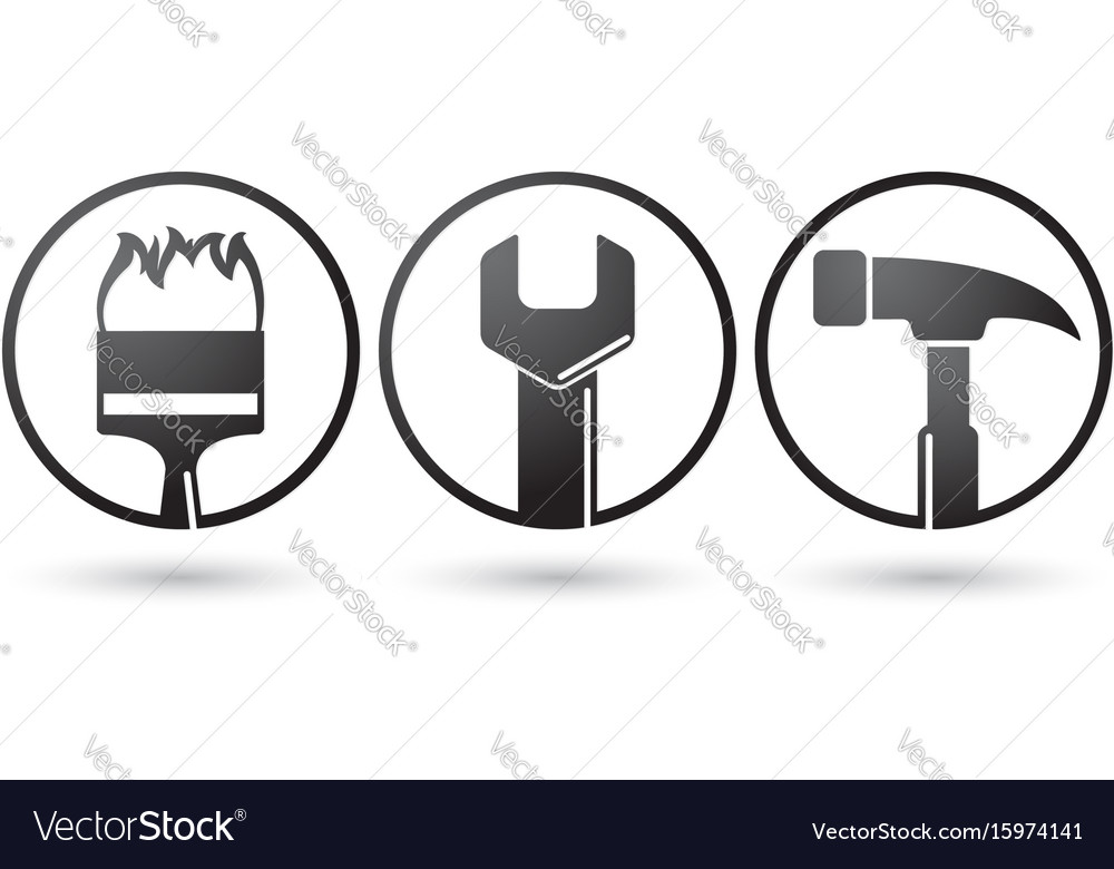 Repairing tools icons