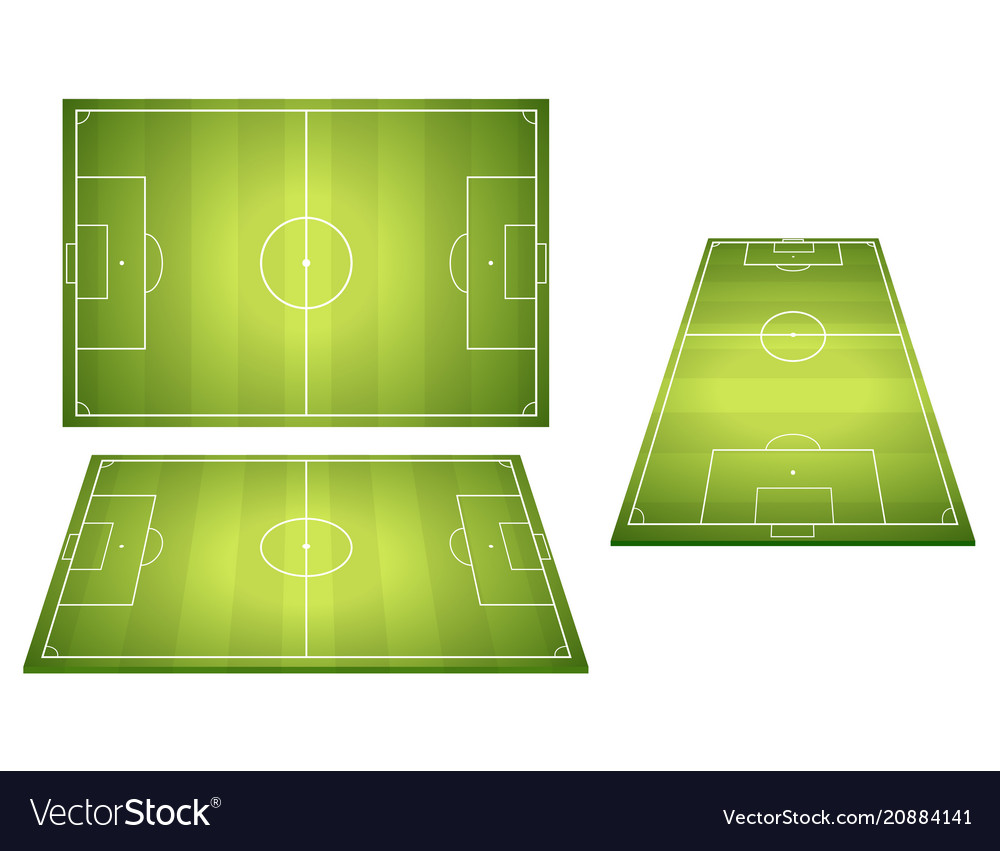 Set of football soccer fields