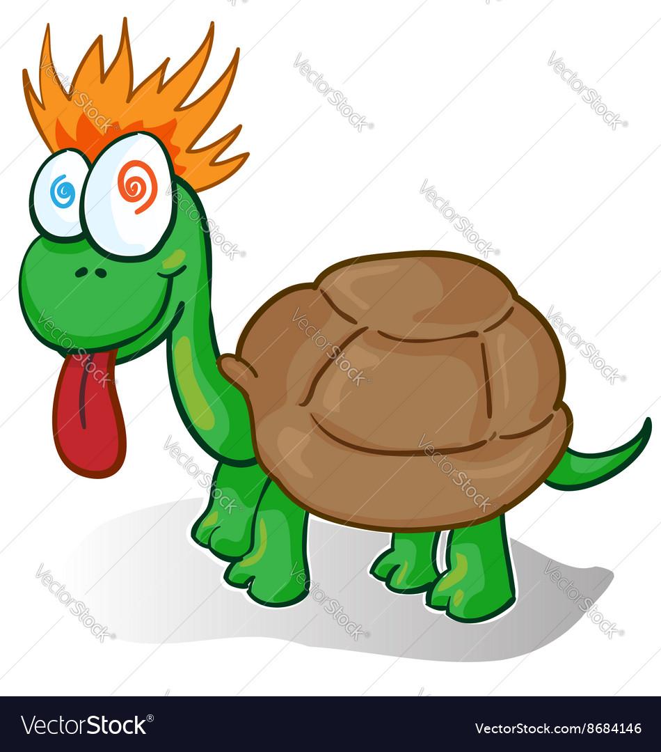 A foolish cartoon turtle