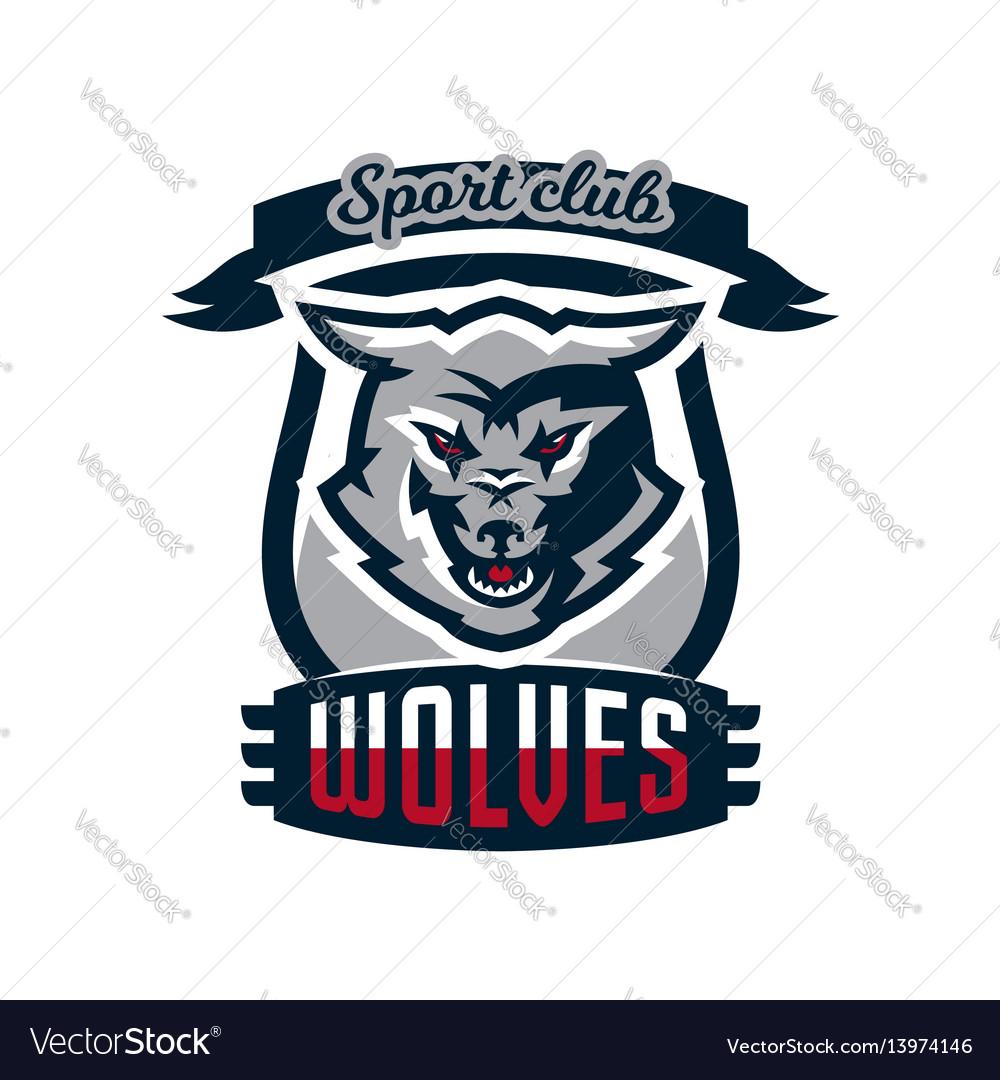Emblem logo sticker aggressive wolf ready to