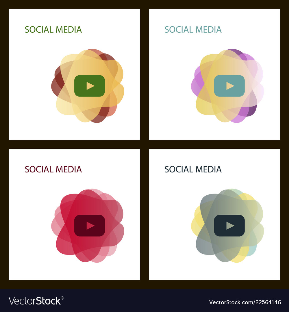 Red button video player social media youtube eps
